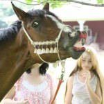Funny Horse Photo LoreenPantaleone Kenzie curls lip after eating cake.jpg  150x150  Winners of the Funny Horse Photo Contest